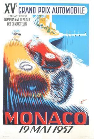 Monaco Grand Prix, 1957 by B. Minne