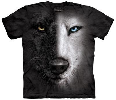 B&W Wolf Face