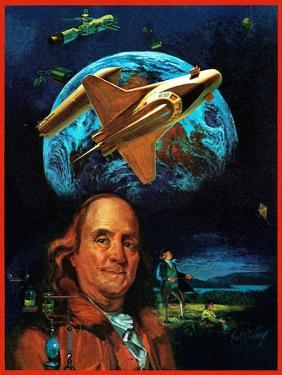 """""""Franklin and the Space Shuttle,"""" July 1, 1973 by B. Winthrop"""