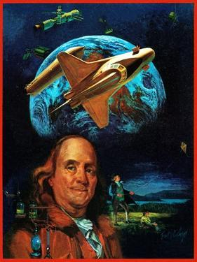 """Franklin and the Space Shuttle,"" July 1, 1973 by B. Winthrop"
