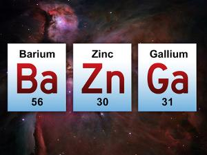 Ba Zn Ga Elements