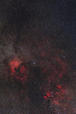 A Meteor Streaks the Sky Against the Milky Way and the Rich Nebula Field in Cygnus by Babak Tafreshi