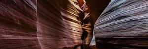 A Panoramic View of a Slot Canyon Eroded by Flash Floods Carrying Abrasive Sand Particles by Babak Tafreshi
