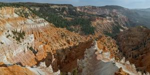 A Scenic High Angle View of Cedar Breaks National Monument, a Natural Amphitheater by Babak Tafreshi