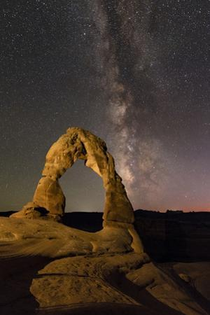 A Starry Night Above the Delicate Arch with the Milky Way from Scorpius to Aquila by Babak Tafreshi
