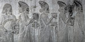Bas-Reliefs on the Great Staircase of Apadana Palace, Persepolis by Babak Tafreshi