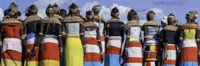 Colorful Customs and Necklaces of Rendille and Samburu Tribe Women in a Celebration Gathering by Babak Tafreshi