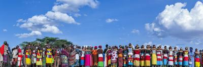 Colorful Customs and Necklaces of Rendille and Samburu Tribe Women in a Celebration Gathering