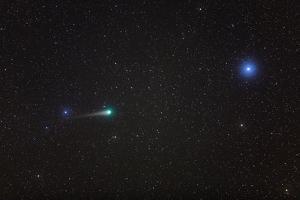 Comet Lulin Near Bright Star Regulus, in Constellation Leo by Babak Tafreshi