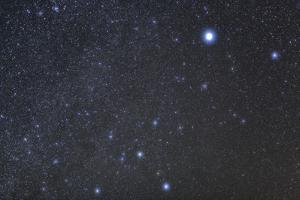 Constellation Canis Major, the Big Dog, with its Notable Star Sirius, the Brightest Star in the Nig by Babak Tafreshi