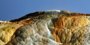 Detail of Travertine Rock Formations at Mammoth Hot Springs by Babak Tafreshi