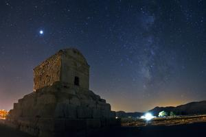 Jupiter and the Milky Way Above the Tomb of King Cyrus the Great by Babak Tafreshi