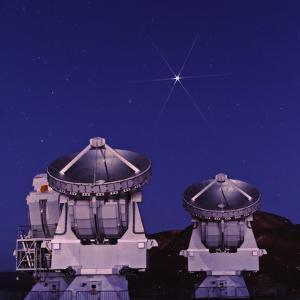 Jupiter over Some of the 66 Atacama Large Millimeter/Sub-Millimeter Array Radio Astronomy Antennas by Babak Tafreshi