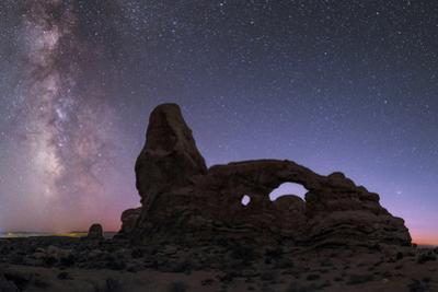 Milky Way and fading dusk above Turret Arch. by Babak Tafreshi