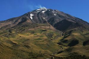 Mount Damavand under a Blue Sky by Babak Tafreshi