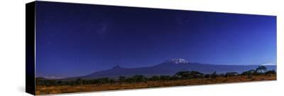Mount Kilimanjaro in Moonlight. the Large and Small Magellanic Clouds Appear to the Left by Babak Tafreshi