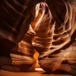 Sandstone Walls of a Slot Canyon Eroded by Flash Floods Carrying Abrasive Sand Particles by Babak Tafreshi