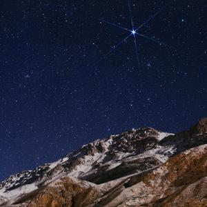 Sirius and the Constellation Canis Major Above the Alborz Mountains on a Winter Night by Babak Tafreshi