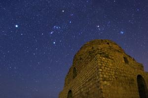 Sirius, Constellations Orion, Taurus and the Pleiades Over Sasan Palace by Babak Tafreshi