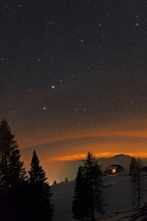 Starry Sky with Planet Saturn, the Bright Spot in Constellation Virgo by Babak Tafreshi