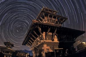 Stars Circle around the North Celestial Pole over the Historic Indreshwar Temple by Babak Tafreshi