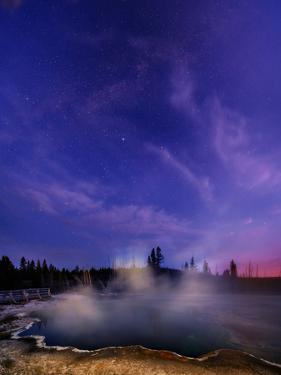 Steam Rising from a Geothermal Hot Spring under the Milky Way at Dawn by Babak Tafreshi