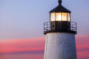 Sunrise at the Historic Pemaquid Point Lighthouse on the Atlantic Coast by Babak Tafreshi