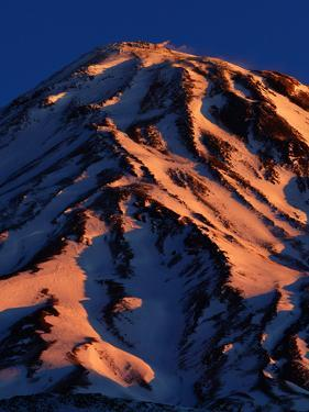 Sunrise on Mount Damavand, a Spectacular Live Volcano in the Alborz Mountains, Iran by Babak Tafreshi