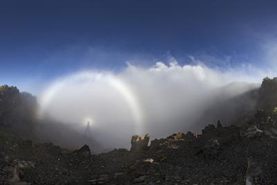 Sunset Above Haleakala Crater with an Atmospheric Phenomenon by Babak Tafreshi