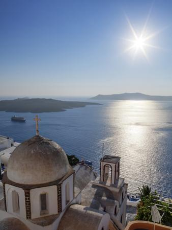 Sunshine on a Summer Day in the Mediterranean Islands of Santorini by Babak Tafreshi