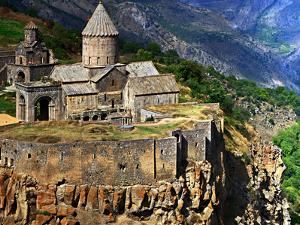 The 9th Century Monastery of Tatev Is Located on a Large Basalt Plateau in Armenia by Babak Tafreshi