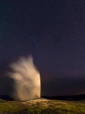 The Constellation Ursa Major, or the Big Bear, During an Eruption of the Old Faithful Geyser by Babak Tafreshi