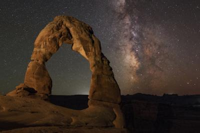 The Galactic Core of the Milky Way in Constellation Saggitarius Above the Delicate Arch by Babak Tafreshi