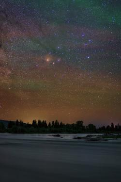 The Head of Constellation Scorpius Appears Above the Snake River by Babak Tafreshi