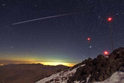 The International Space Station (Iss) Crosses the Northern Sky Above the Zagros Mountains, Iran by Babak Tafreshi