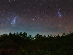 The Large and Small Magellanic Clouds, Red and Green Airglow Photographed from the Equator by Babak Tafreshi