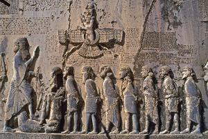 The Large Bas-Relief and Inscription of Darius the Great, in Behistun, Iran by Babak Tafreshi