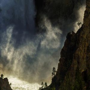 The Lower Yellowstone Falls and the Yellowstone River in the Grand Canyon of the Yellowstone by Babak Tafreshi