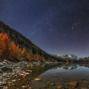 The Milky Way Above June Lake in the Sierra Mountains by Babak Tafreshi