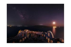 The Milky Way and the Moon over the Castle of Agios Nikolaos, a 15th Century Ruin by Babak Tafreshi