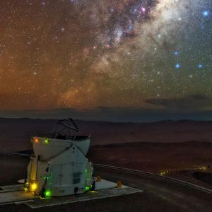 The Milky Way in the Constellation Sagittarius Above the Cerro Paranal Observatory by Babak Tafreshi