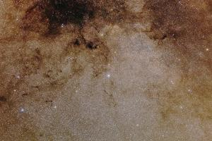 The Milky Way in the Constellation Scutum, the Star Cluster M11, known as the Wild Duck Cluster by Babak Tafreshi