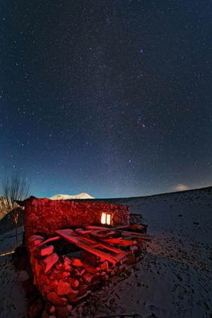 The Milky Way in the Night Sky Above a Shepherd's Hut by Babak Tafreshi