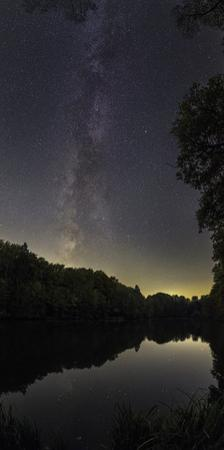 The Milky Way over a Lake in Central Germany, Near the Town of Lich by Babak Tafreshi