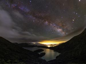 The Milky Way over the Lake of Fire by Babak Tafreshi