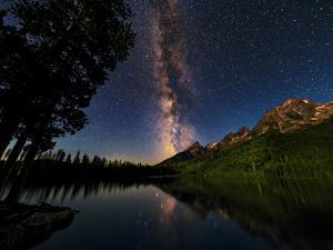 The Milky Way Shines over the Teton Range by Babak Tafreshi