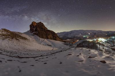 The Rising Milky Way Above the Iran Alborz Mountains by Babak Tafreshi