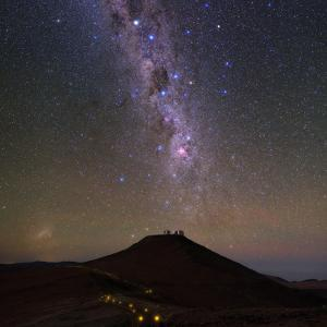 The Southern Milky Way and the Southern Cross Above the Cerro Paranal Observatory in Chile by Babak Tafreshi