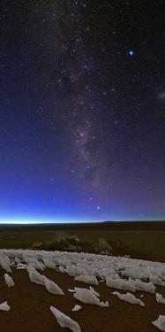 The Southern Milky Way Fades in the Morning Twilight over Ice Fields by Babak Tafreshi