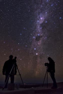 The Southern Stars over Two Photographers on the Top of 3060-Meter Peak Cerro Armazones by Babak Tafreshi